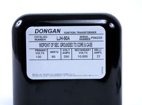 LJH90A 3 ljh90 dongan 10,000 volt 3 way ignition transformer Ignition Transformer at webbmarketing.co